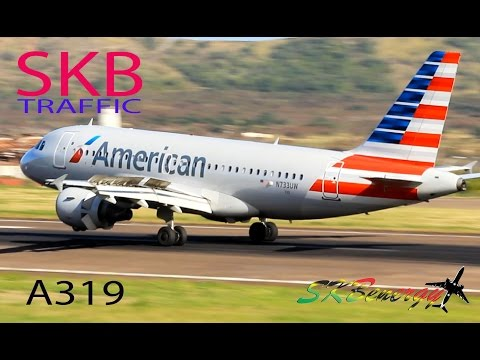 American Airlines A319 in action @ St. Kitts Robert L. Bradshaw Int'l Airport