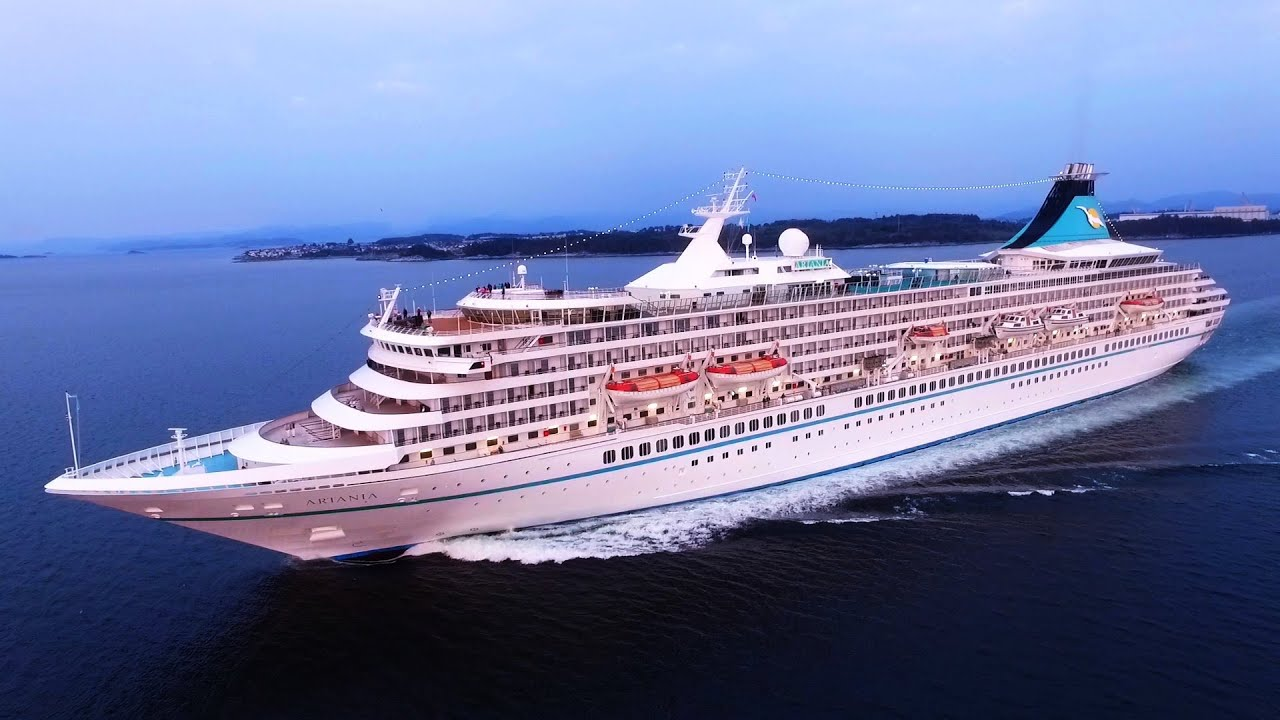 Ms Artania Ms Artania Cruise Drone Close Up Chase / Norway