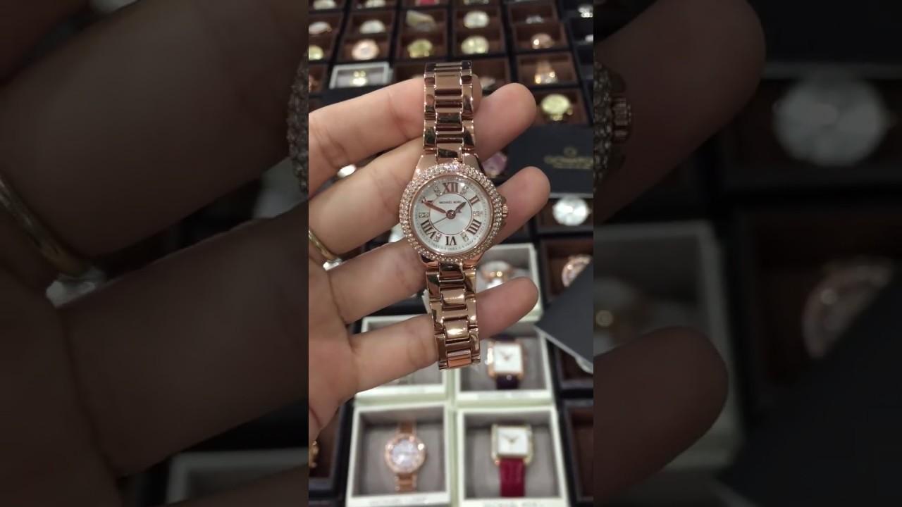ee28c688df9d Michael Kors Women s Petite Camille Rose Gold-Tone Bracelet Watch MK3253