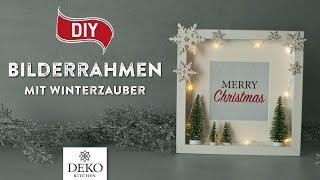 DIY: süße Weihnachtsdeko im Bilderrahmen [How to] Deko Kitchen