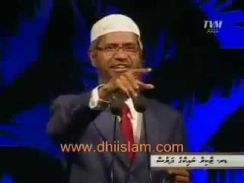 Zakir naik debate with a maldivian non-muslim