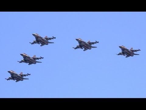 מטס יום העצמאות 2016  4K  Israel Independence Day Airshow