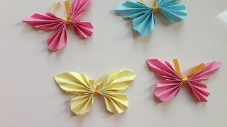 how to make easy paper butterflies | origami | paper crafts | kids crafts