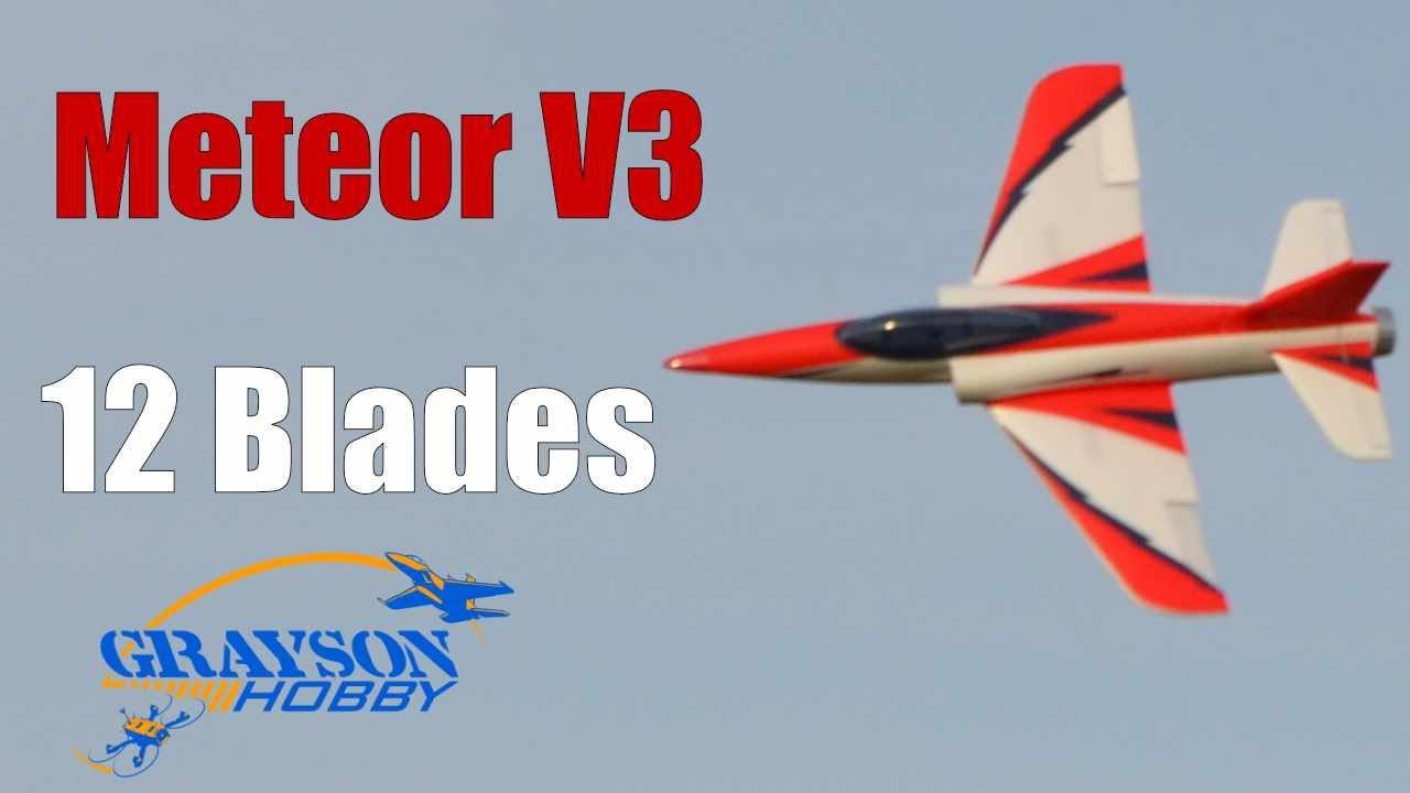 Dynam Meteor V3 12 Blades EDF Radio Control Jet 4S - Speed Test!