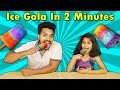 Pari Making ICE GOLA At Home  Easy GOLA Recipe  बर्फ का ...