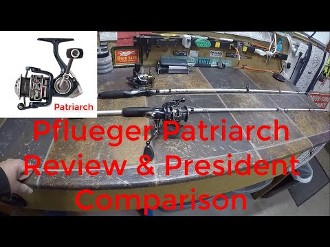 PFLUEGER SPINNING REEL REVIEW [PATRIARCH] And Comparison To The Pflueger President Spinning Reel