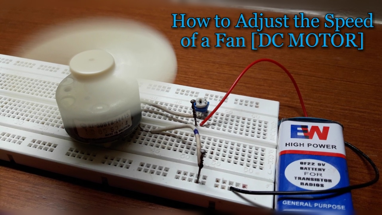 How to Adjust the Speed of a Fan [DC MOTOR]❔ - YouTube