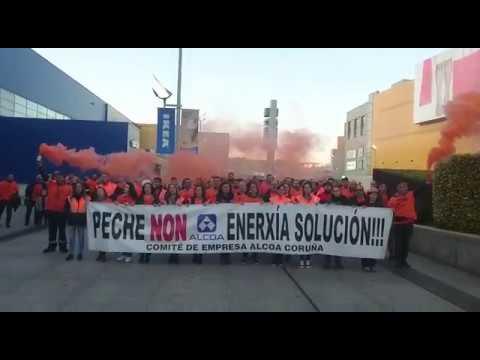 Protesta de los trabajadores de Alcoa de A Coruña