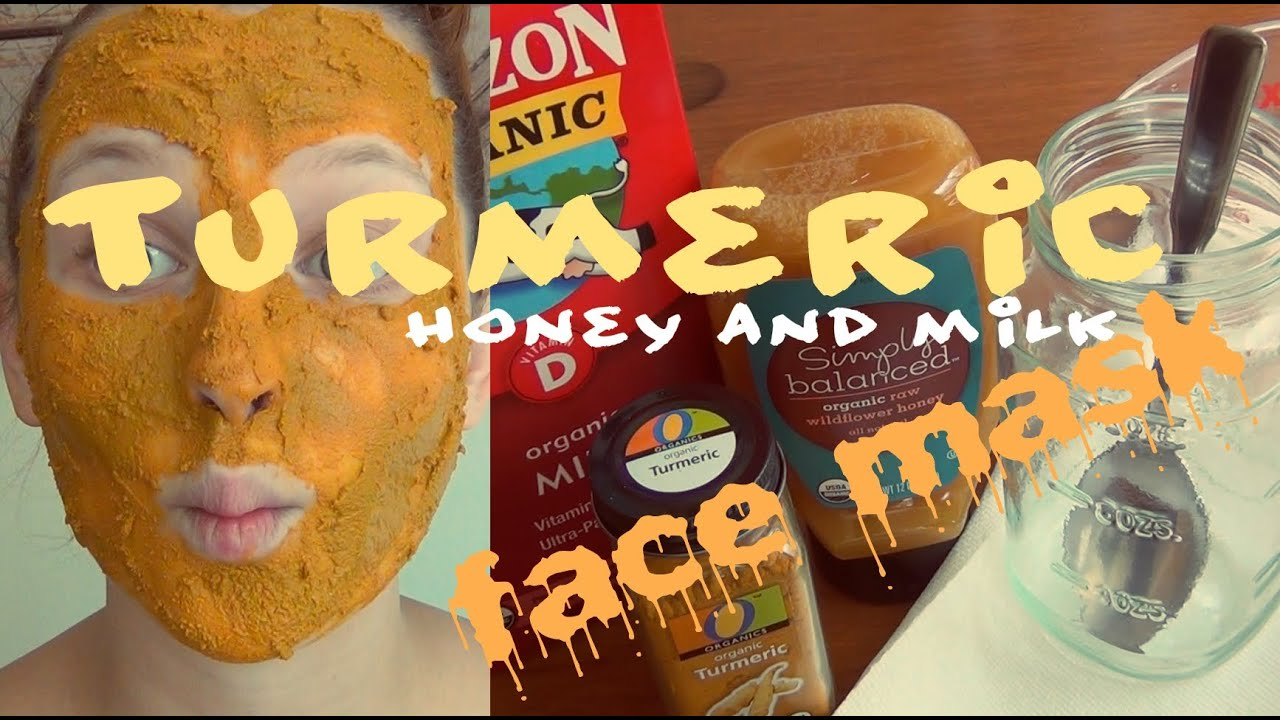 DIY Beauty ♥ Turmeric, Honey & Milk Face Mask - YouTube