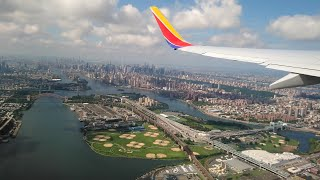 [4K] NEW YORK LGA TAKE-OFF I Southwest Airlines Boeing 737-7H4