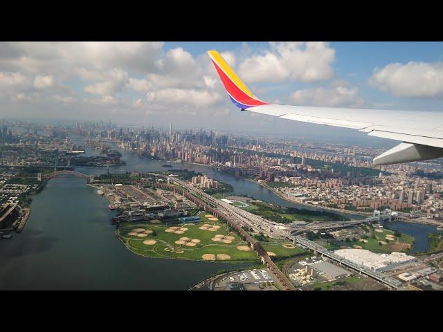 [4K] NEW YORK LGA TAKE-OFF I Southwest Airlines Boeing 737-7H4
