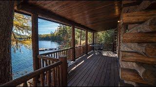 18x24 Single Level Tamarack Log Cabin