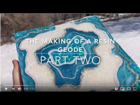 The Making Of A Resin Geode, Part Two