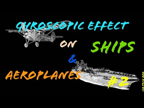 [English-हिन्दी] - Gyroscopic Effect on Aeroplanes and Naval Ships (Detailed explanation with Trick)