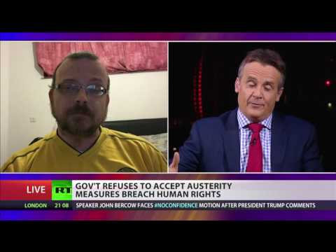 Gov't refuses to accept austerity measures breach human rights.