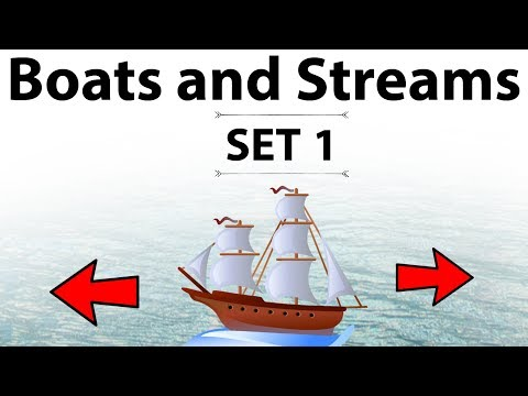 Boats and Streams - Concepts Shortcuts and tricks - Set 1 - IBPS/SSC CGL/CHSL/LDC/MTS/SBI PO & Clerk