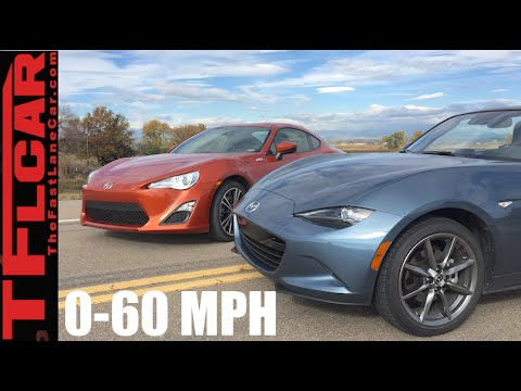 2016 Mazda Mx 5 Miata Vs Scion Fr S 0 60 Mph Review Which Car Is