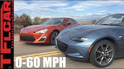 2016 Mazda MX-5 Miata vs Scion FR-S 0-60 MPH Review: Which car is faster?