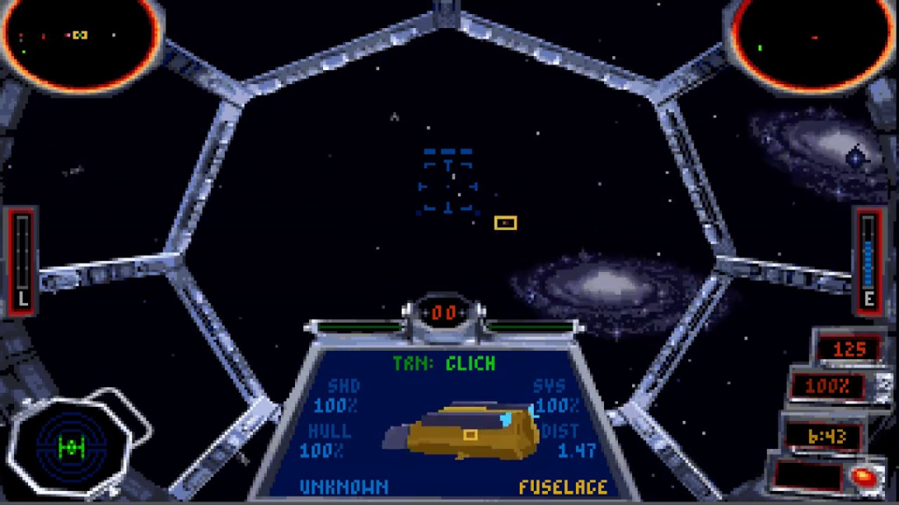 """Star Wars: TIE Fighter (PC/DOS) """"1-Mission, Hard Difficulty"""" 1994,  LucasArts - YouTube"""