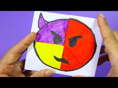 Emoji Diy Paper Magic Card | Face Changer Tutorial | Radius