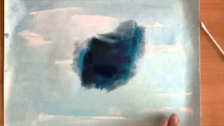 Рисование вороны в приёме рисования по мокрому в акварели. Видеоурок по рисованию Анны Кошкиной.