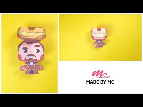 DIY Miniature Marvel Papercraft in 3 Minutes ~ Iron Man Papercraft Tutorial