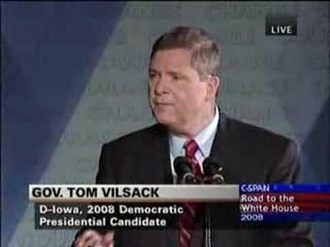 Tom Vilsack announcment in Mt Pleasant, IA