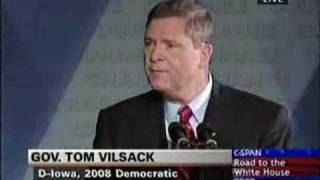 Tom Vilsack announcment in Mt Pleasant, IA
