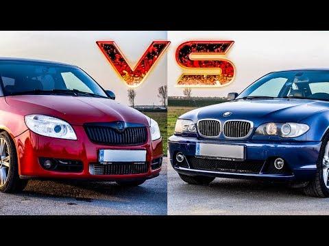 DRAG RACE  !! SKODA FABIA 1.9TDI 202CP vs BMW e46 330ci 231CP - Vlog 730