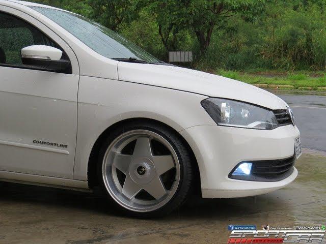 VW Gol G6 + Rodas KR K56 Borbet aro 17 tala 8,5 + Delinte 195/40R17 + Suspensão Fixa
