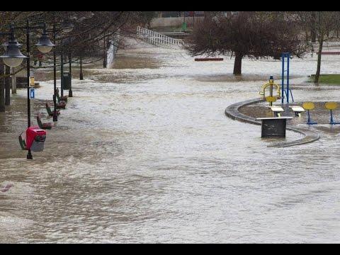 Flood River Ebro Spain Mar 2015