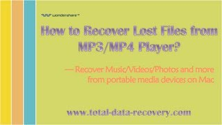 [MP4 Data Recovery] How to Recover Lost Files from MP3/MP4 Player on Mac?