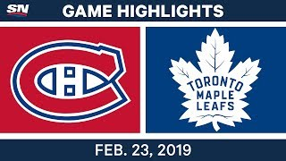 The Montreal Canadiens jumped out the a three-goal lead but they weren't able to hold on as the Toronto Maple Leafs rallied for the victory.