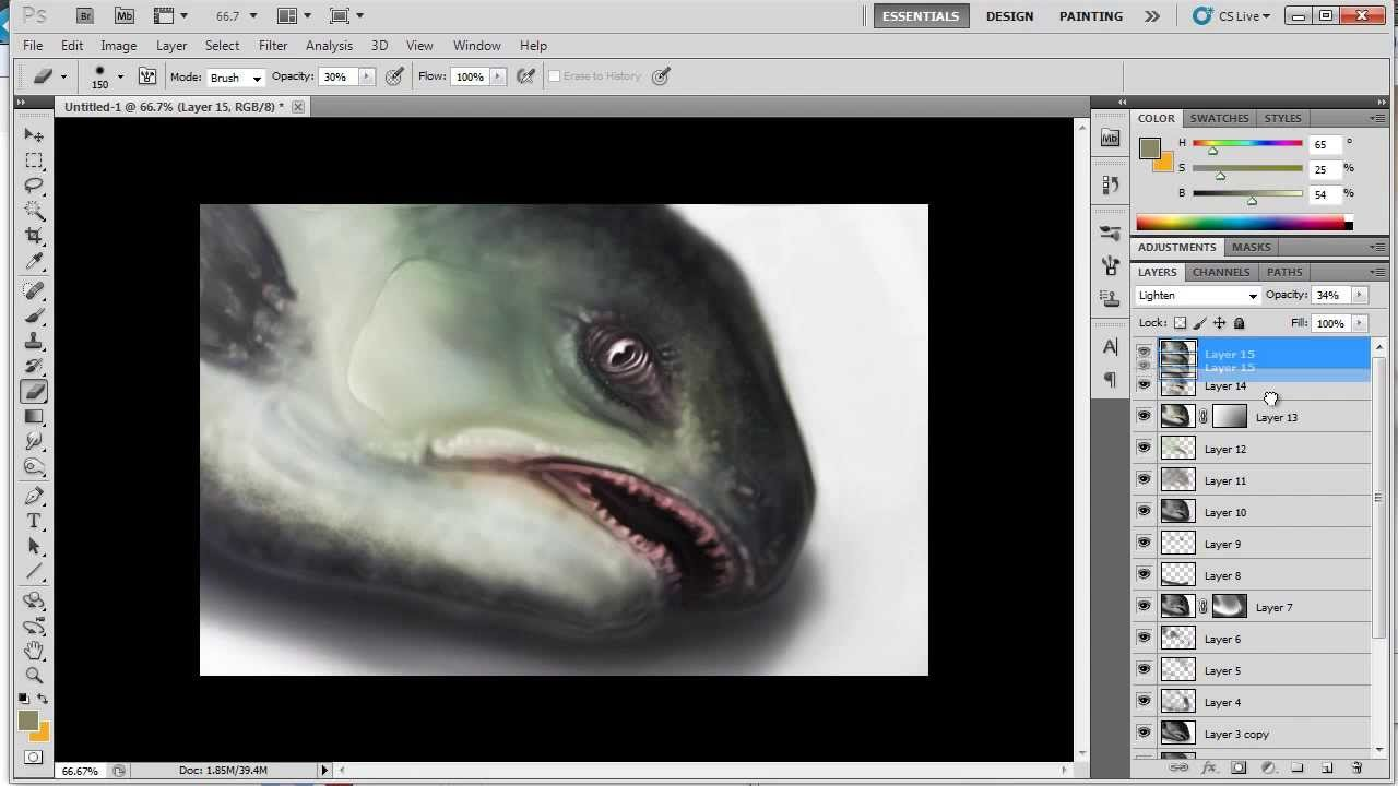 how to draw fish scales in photoshop