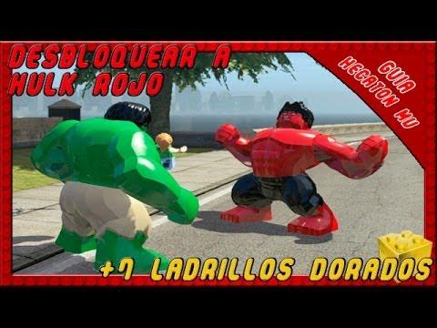 LEGO Marvel Super Heroes Unlock Hulk Red Brick Golden 7  YouTube