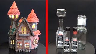 DIY Fairy House from Bottles | How to make a fairy house from jar with your own hands