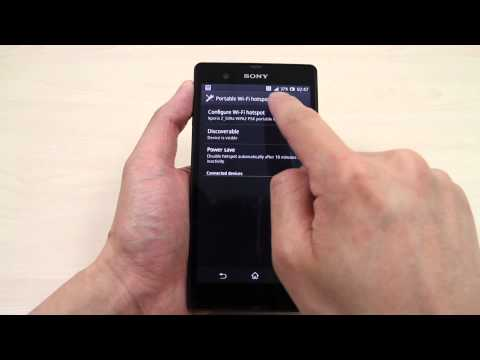 How to share the internet connection from Sony Xperia Z