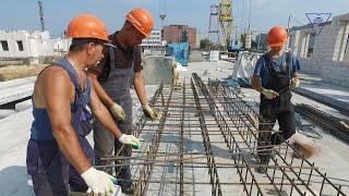 Строительство нового общежития ГрГУ имени Янки Купалы. Июль 2019