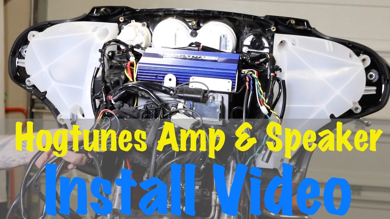 Install Hogtunes Amp & Speakers On 2014 & Newer Harley Davidson Hogtunes 4 Channel Amp Simple Harley Wiring Diagram Kicker Amps Wiring Diagram At IT-Energia.com