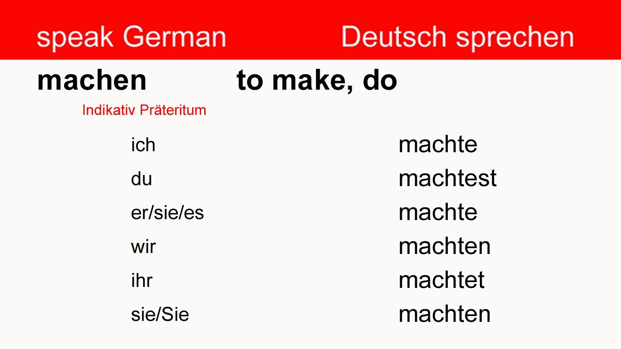 German Verb Conjugation - YouTube