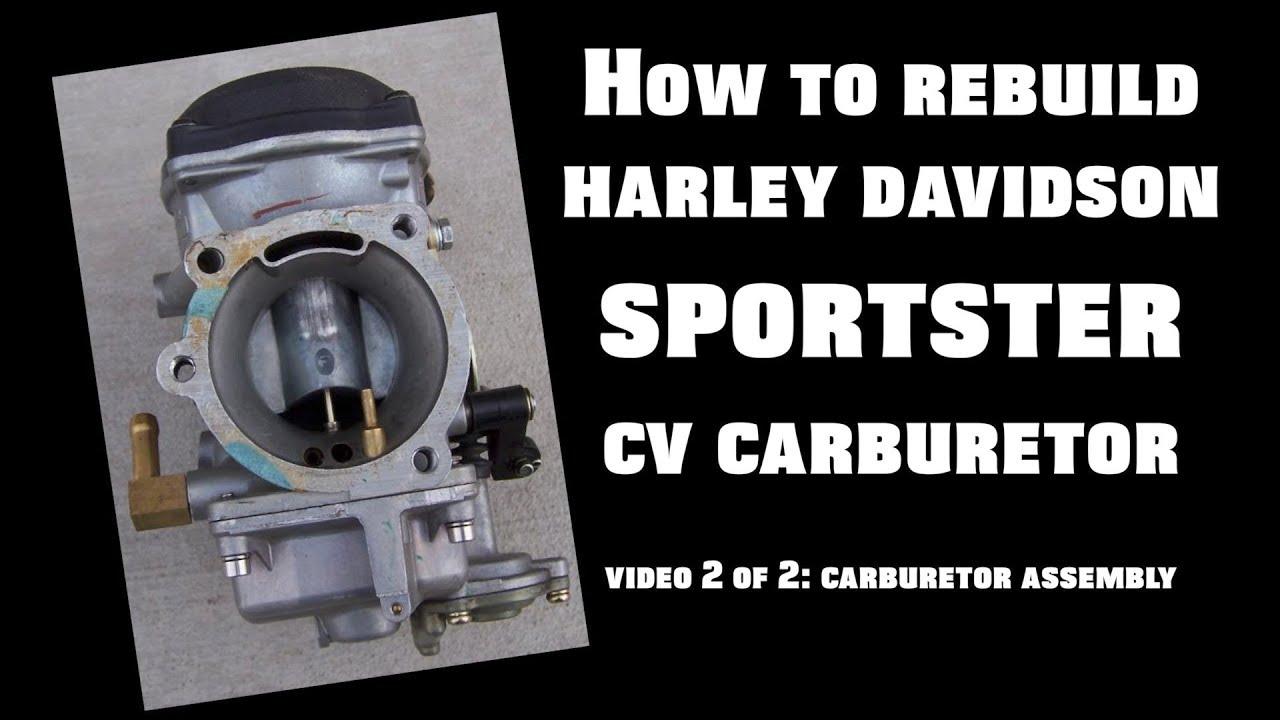 Rebuild Harley Davidson Sportster Cv Carburetor Video 2 Of Youtube 1997 Carb Diagram