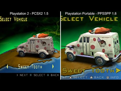 Twisted Metal: Head-On - PCSX2 Vs. PPSSPP (side By Side)
