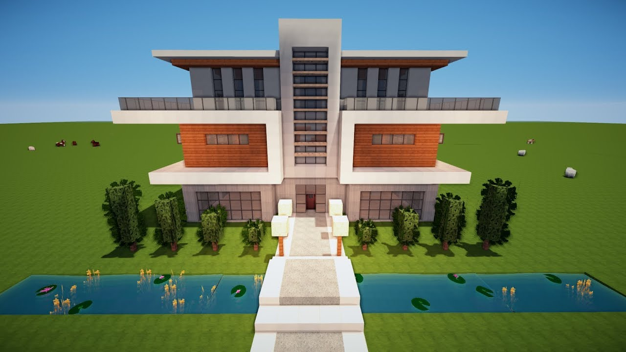Minecraft gro es modernes haus bauen tutorial haus 110 for Minecraft modernes haus tutorial