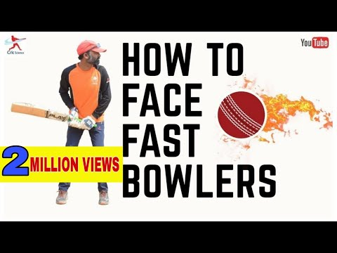HOW TO FACE FAST BOWLERS !! HOW TO BAT AGAINST FAST BOWLING !