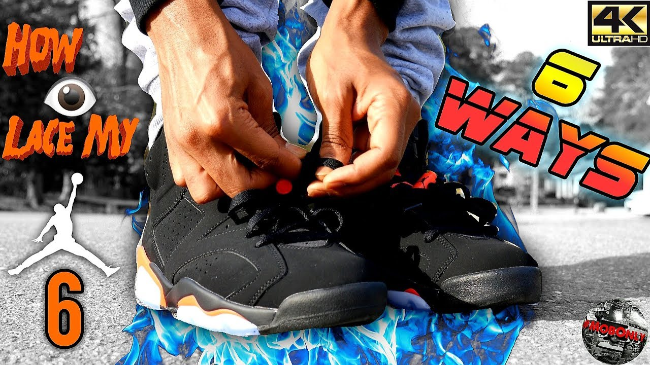 241655987bf823 How I Lace My 2019 Black Infrared Air Jordan 6s 6 DIFFERENT WAYS ...