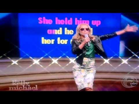 Kelly Ripa & 80's karaoke..