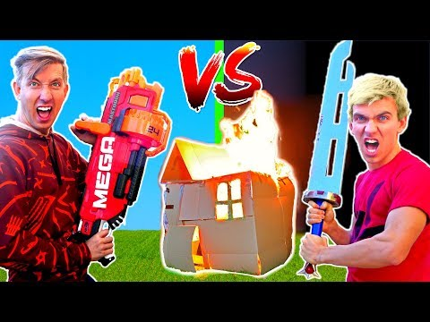 BOX FORT vs BOX FORT CHALLENGE w/ Stephen Sharer, Carter Sharer & Liz Sharer Vlog