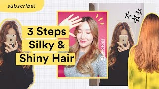 3 Simple Steps to Get Silky Shiny Hair at Home   Tips To Prevent Hair Loss