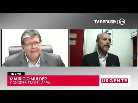 Mauricio Mulder comenta acerca de la difícil situación del expresidente García