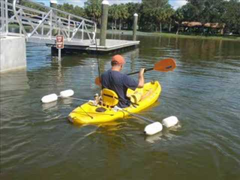 Ocean Kayak For Sale >> Retractable Kayak Stabilizers/ Outriggers $109.00 - YouTube